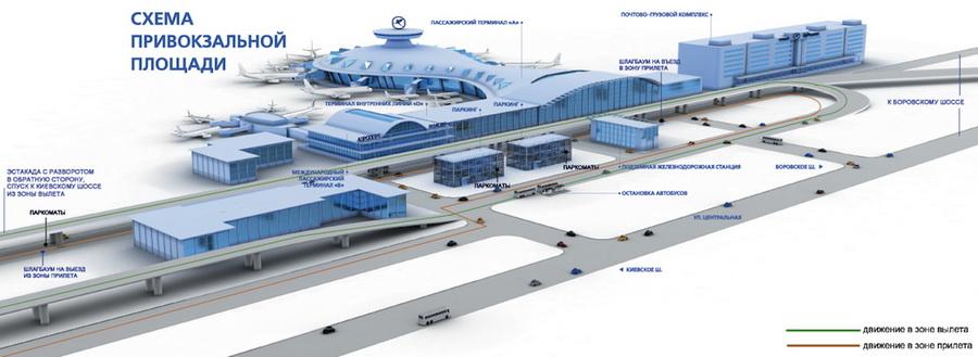 площади аэропорта Внуково