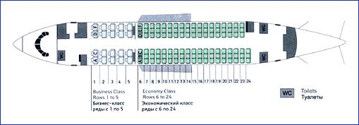 боинг 737-809 схема салона